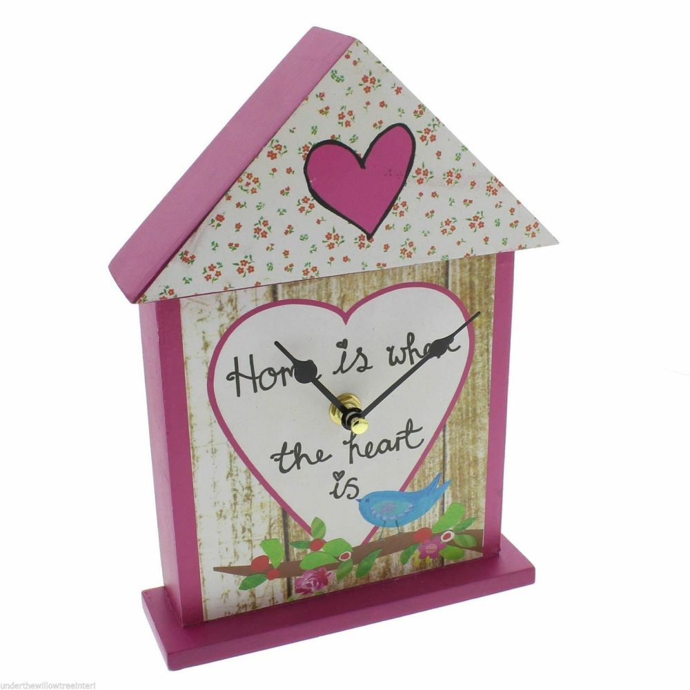 Home Is Where The Heart Is Mantle Table Clock