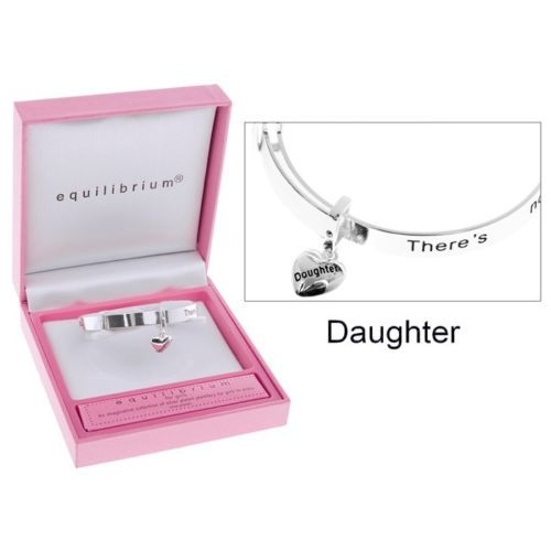 Equilibrium DAUGHTER Girls Childrens Bangle with Heart Charm