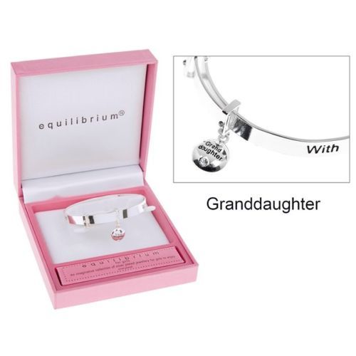 Equilibrium GRANDDAUGHTER Girls Childrens Bangle with Heart Charm