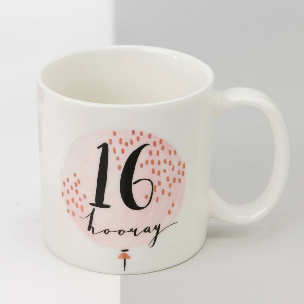 Luxe Rose Gold 16th Birthday Mug