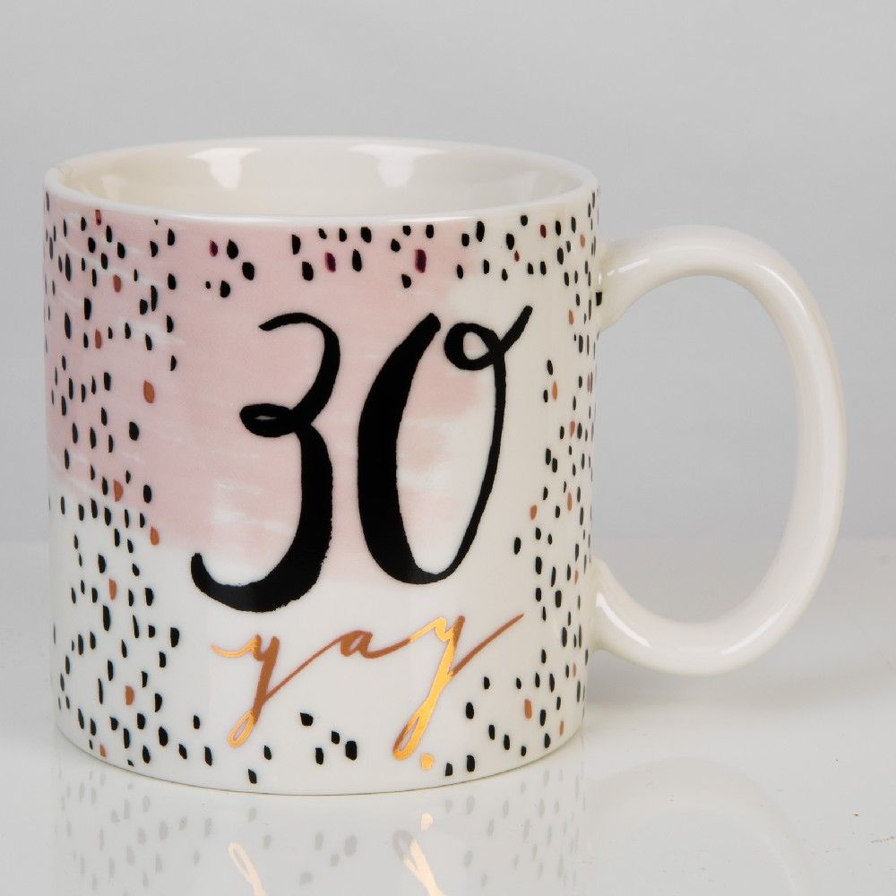 Luxe Rose Gold 30th Birthday Mug