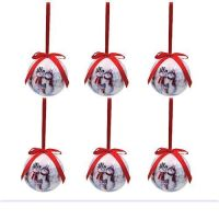 Box of 6 Traditional Snowman Baubles