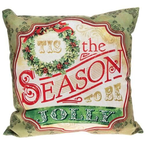 Tis' The Season To Be Jolly Filled Christmas Cushion 45x45cm