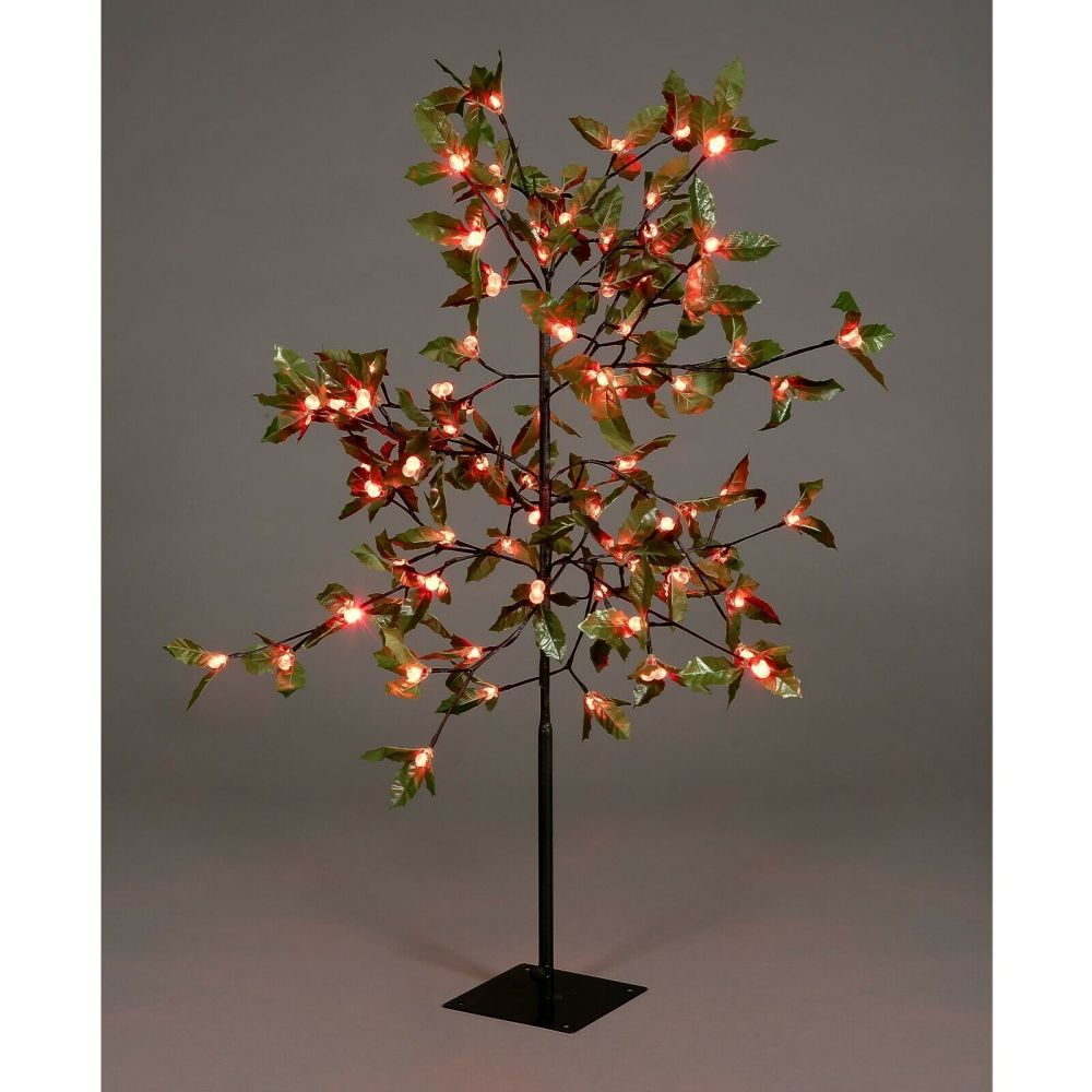 3 FT Holly Tree  90 LED Red Berries 240v Indoor/Outdoor