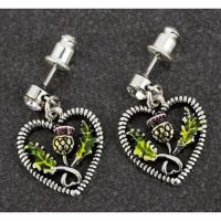 Equilibrium Scottish Thistle Earrings
