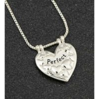 Equilibrium Silver Plated Lifting Perfect Heart Necklace