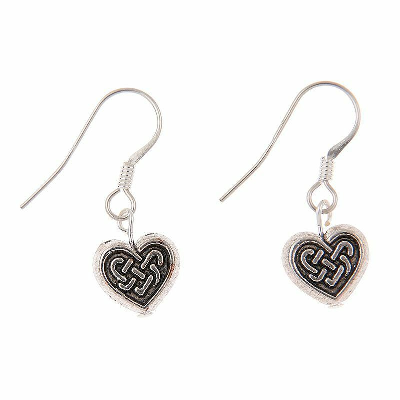 Carrie Elspeth Celtic Heart Earrings Sterling Silver