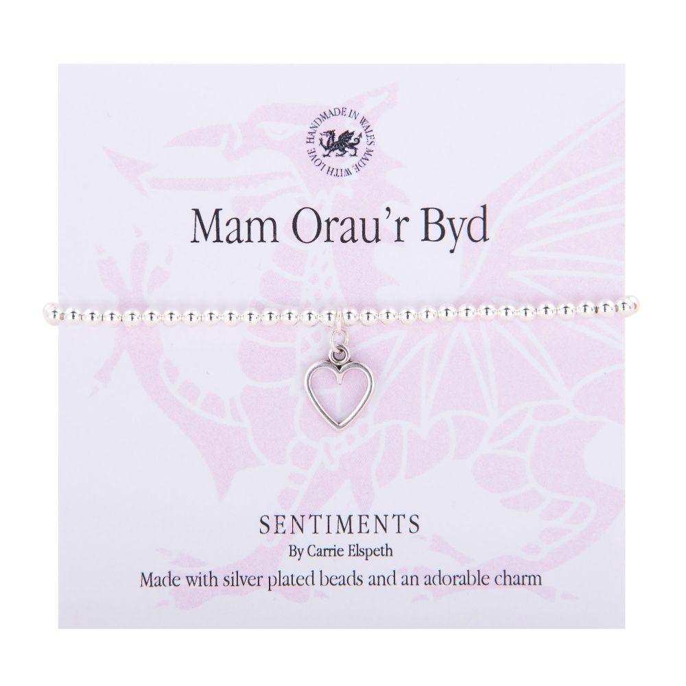 """Carrie Elspeth Bracelet """"Mam Orau'r Byd"""" Gift Card Wales"""