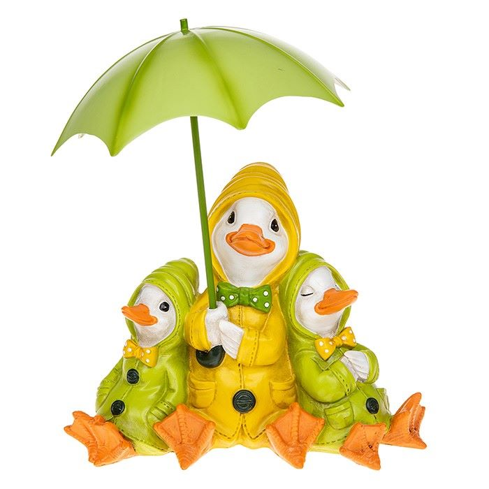 Puddle Duck Family Figurine