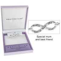 Equilibrium Silver Plated Mum Infinity Bracelet
