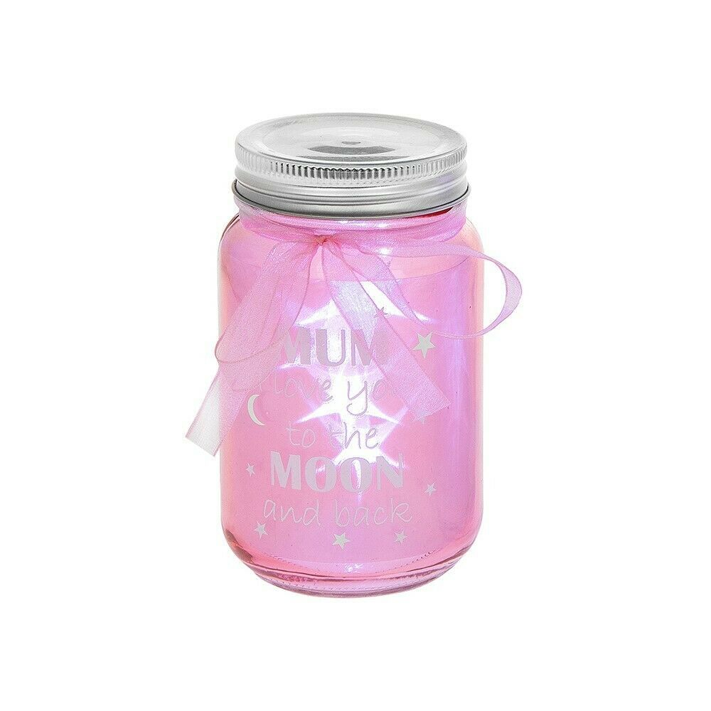 Mum LED Pink Firefly Jar