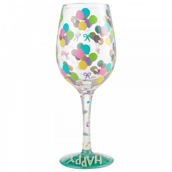 Lolita BIRTHDAY BALLOONS  Wine Glass
