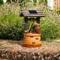 Solar Powered Water Wishing Well Fountain