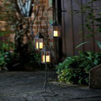 Troika Tree Lantern Candle Outdoor Indoor Decor Auto 4 Hour Function Inc Candles