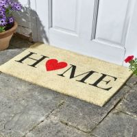 Home is Where the Heart is Coir Doormat