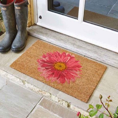 Xtra Large Gerbera Coir Doormat Indoor Outdoor Door Mat 60x90cm