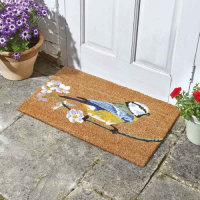 Extra Large Blue Tit Decoir Natural Coir Doormat 60x90cm