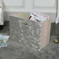 Champagne Crushed Velvet Magazine Holder