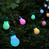Solar Strings 20 Garden Party Lights Colour LED Lights