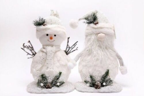 Set of 2 Medium Santa & Snowman