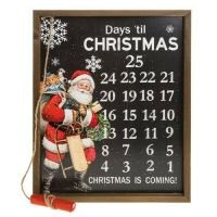 Large Christmas Day Countdown Plaque