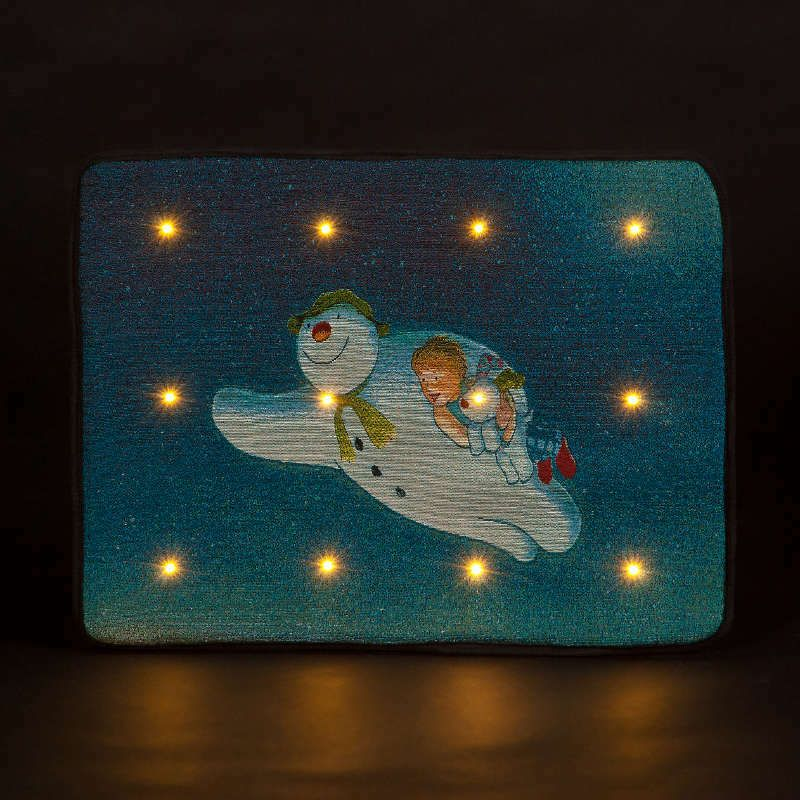 The Snowman Snow Dog Motion Sensor LED Light up Door Mat Flying Scene Doorm