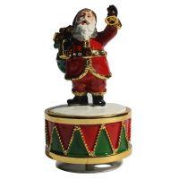 Santa Ringing Bell Musical Figurine