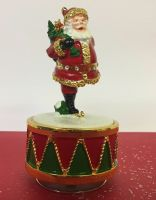 Santa Ice Skating Musical Figurine