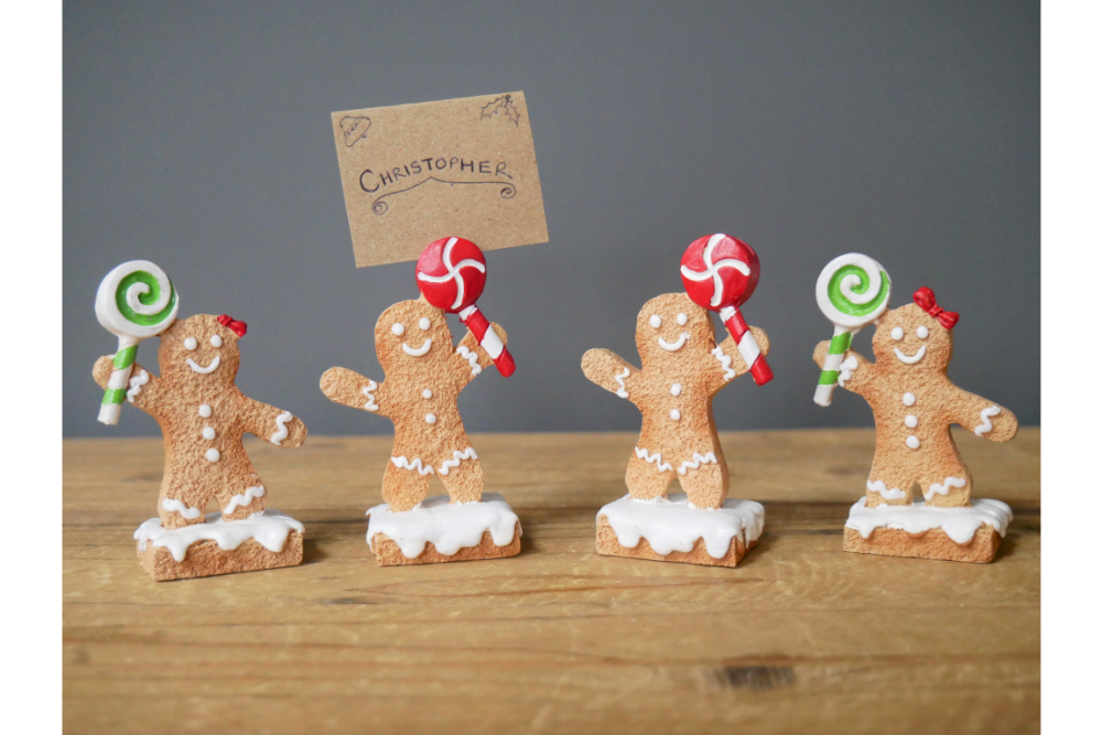 Gingerbread Men Place Name Card Holders