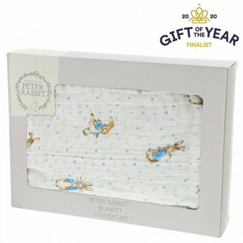 Beatrix Potter Peter Rabbit Baby Collection Crib Blanket 100% Cotton