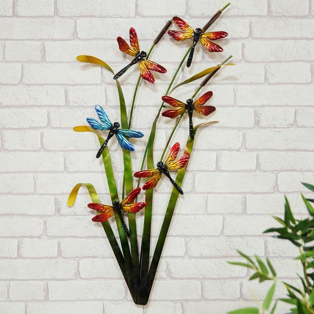 Dragonflies Metal Wall Art Decor Dragonflies Garden or Home