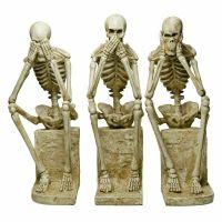 Large Hear No Evil Set Of 3 Skeleton Statues