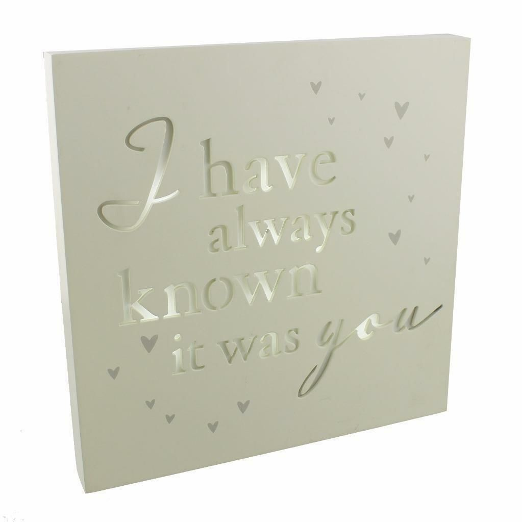 Light Up Box - Always Known It Was You Wall Plaque or Freestanding