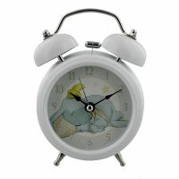 Disney Baby White Light Up Bell Alarm Clock with Dumbo Clock Face