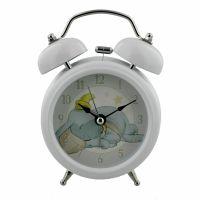 Disney Baby White Light Up Bell Alarm Clock with Dumbo Clock Face