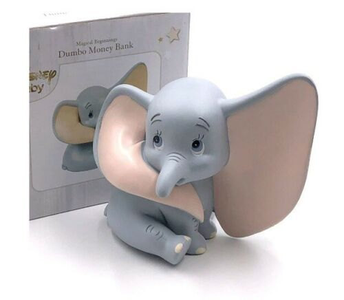 DISNEY Magical Beginnings Money Piggy Bank Dumbo Figure Money Box Baby Savings