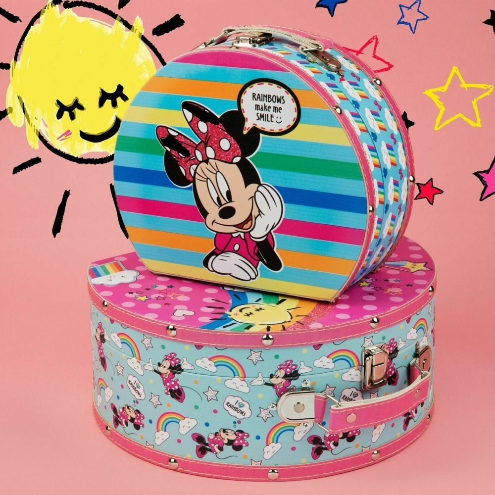 Disney Minnie Mouse Set of 2 Vanity Cases Rainbow design