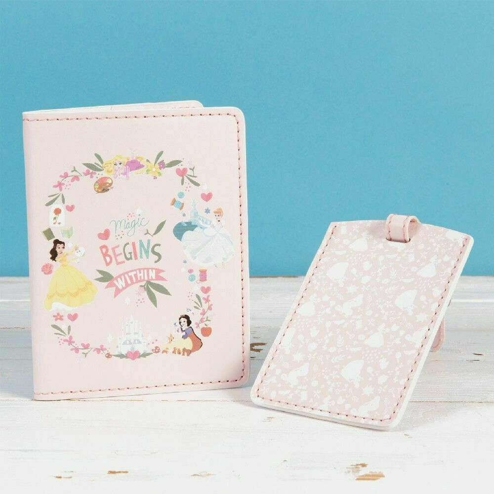 Disney True Princess Luggage Tag Passport Gift Set Magic Begins Within