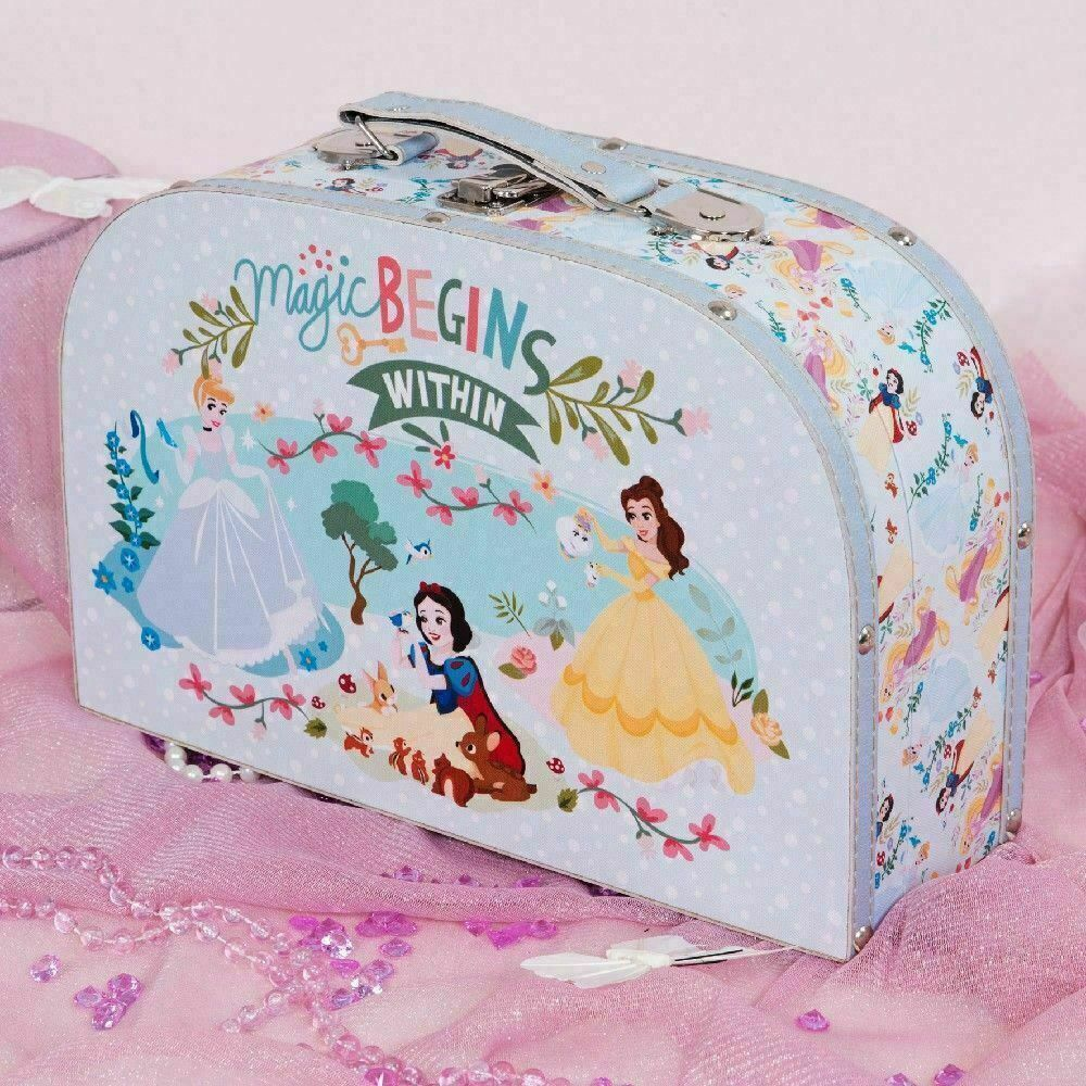Disney True Princess Blue Canvas Carry Case Cinderella, Belle & Snow White