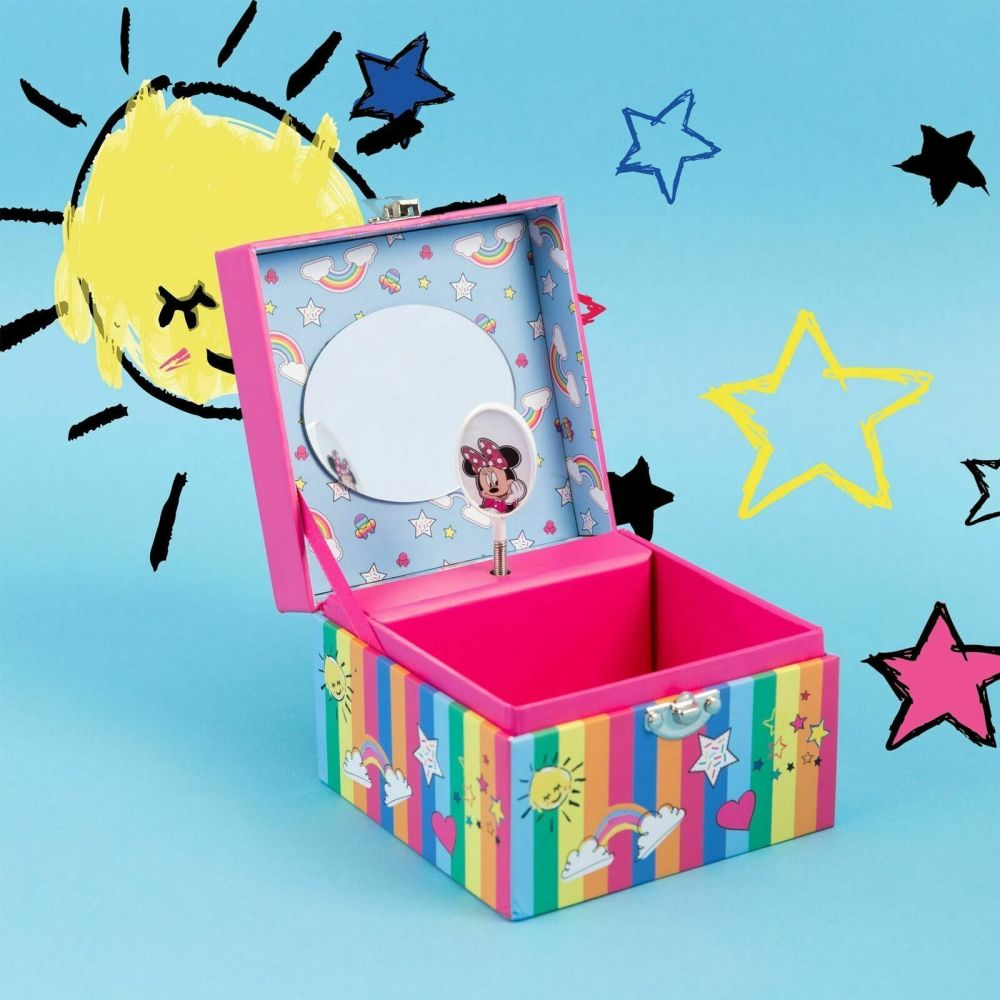 Disney Minnie Mouse Rainbows Make me Smile Musical Jewellery Box