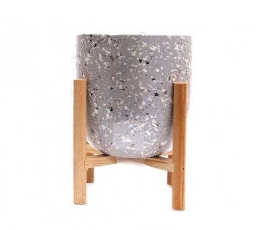 Terrazzo Marble Fleck Candle Pot Grey