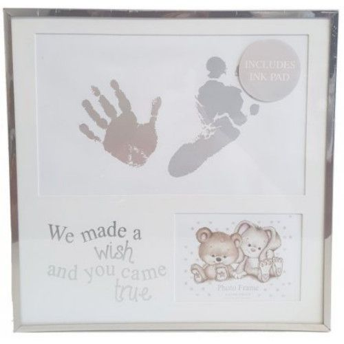 Baby Hand & Foot Print Silver Frame with Ink Pad