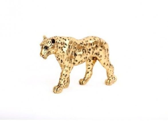 Gold Leopard Ornament 27.5cm