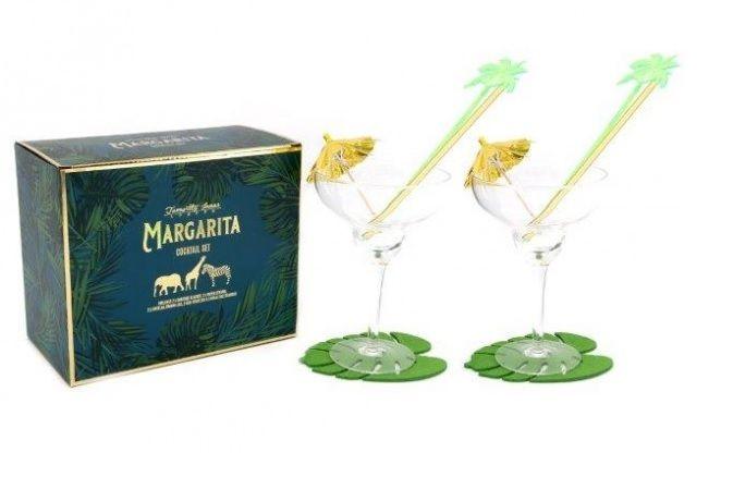 Margarita Safari Cocktail Glass Gift Boxed Set