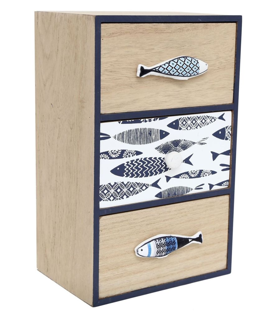 Nautical Seashore Decorative Chest Of Drawers
