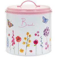 Butterfly Garden Pink Bread Bin