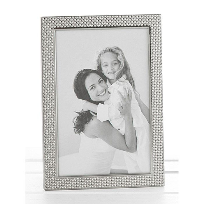 Polished Silver Pimple Photo Frame 4x6