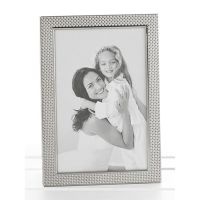 Polished Silver Pimple Photo Frame 5x7