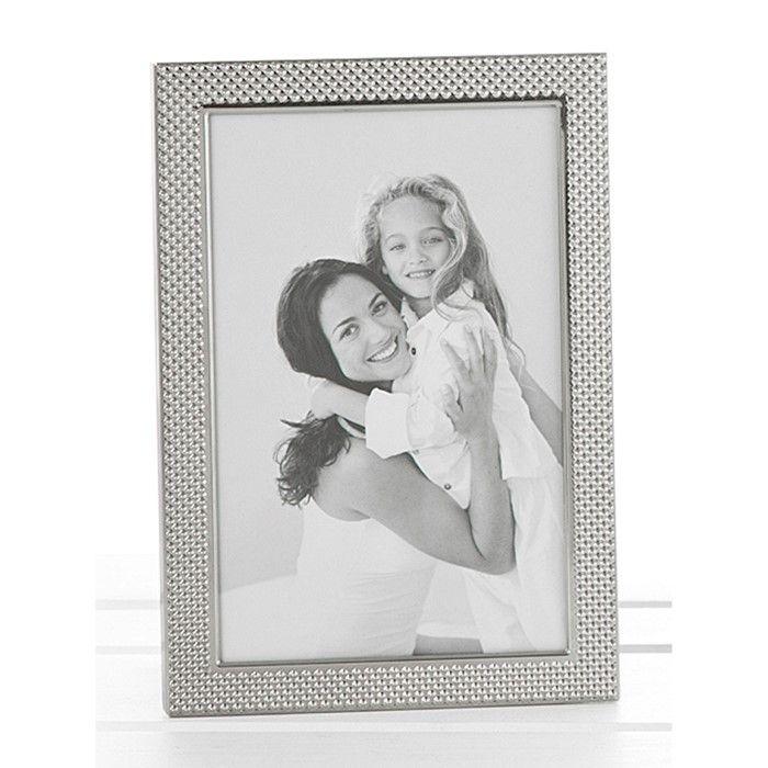 Polished Silver Pimple Photo Frame 5x7