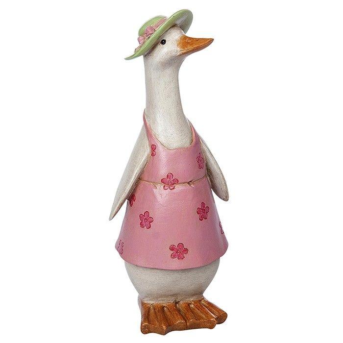 David's Girl Country Duck Statue Ornament Figurine